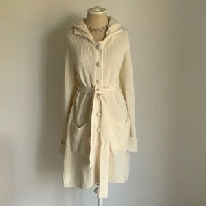 Rachel Zoe seater dress with tie and hood